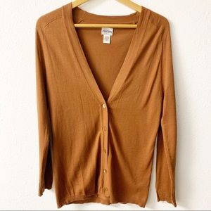Chico's Orange Light Weight Cardigan.  Button down